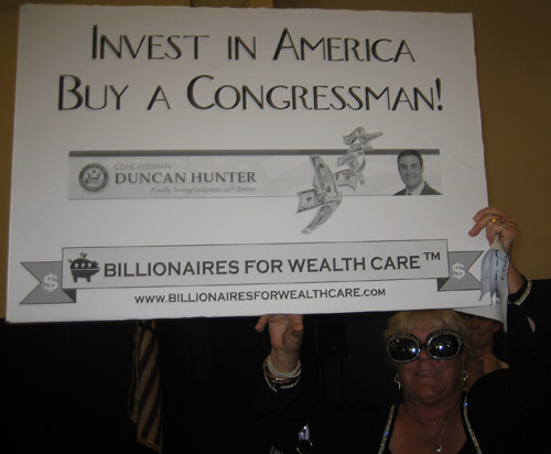 Billionaires buy congressmen