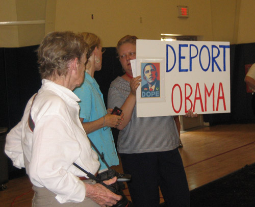 Deport Obama, Birther Sign Says